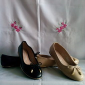 Нові( елітний сток ) фірмен .F&F туфлі - балетки з еко - шкіри роз.37 - одна пара на вибір