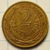 Уругвай 2 сентесимо 1960 год