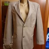 Серый мужской пиджак Zara, пр-во Турция, разм. 48. Сост. отличное! 100% шерсть.