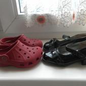 Кроксы Crocs оригинал и туфли tks состояние очень хорошее