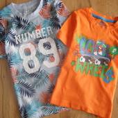 Lupilu комплект футболок мальчику 2-4 лет рост 98/104 Германия