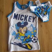 Disney комплект майка+трусики мальчику 100% хлопок рост 86-92 Германия