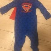 Состояние нового! Человечек Superman на 3-6 мес.