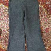 модные широкие брюки с высокой посадкой р.10