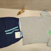 Германия!!! Симпатичный лот для мальчика! Коттоновая футболка 110/116ии Бермуды 110!