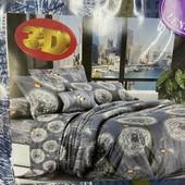 Бязевый постельный набор евро размера.