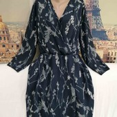 Шифоновое платье на запах, размер L - XL.