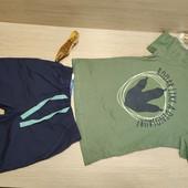 Германия!!! Классный лот для мальчика! Коттоновая футболка 110/116 и Бермуды 116!