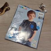 Германия!!! 1 упаковка из 2 суперовых коттоновых футболок с динозаврами для мальчика! 86/92!