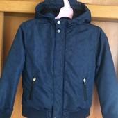 Куртка, деми, внутри флис, размер 10-11 лет 140-146 см, La redoute. состояние отлично