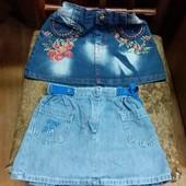 Джинсовие юбки для девочки, одна на вибор.