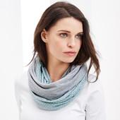☘Лот 2 шт. ☘Комплект универсальных шарфов-снудов от Tchibo(Германия), размер универсальный, унисекс
