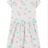 ♥-платье Carters трикотаж,с единорожками р.10,-!♥