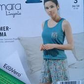 комплект пижама для сна и отдыха Esmara р.S лен+вискоза, нежная