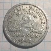 Франция 2 франка 1943