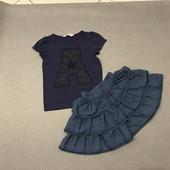 Юбка + футболка на 4-6 лет