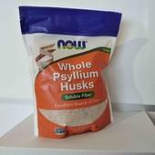 Цельная оболочка семян подорожника, (454 г) Now Foods, USA