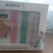 Auriol, часы оригинал, пр-ль Германия, кожаный ремешок