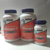 Omega- 3, 200 штук, NOW Foods Америка
