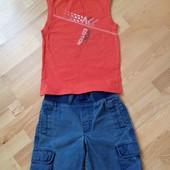 Комплект на лето майка джинсовые капри