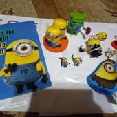 Миньоны McDonald´s, игрушка, фигурка, minion. раскраска, кольцо, киндеры Лот все что на фото!