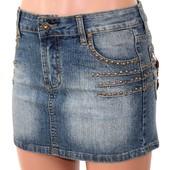 Юбка детская подростковая фирменная джинсовая Р. 27