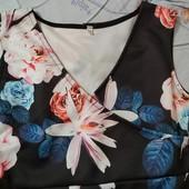 обновление товара распродажа Платье в цветах по фигуре 48-50р эластан