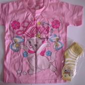 футболка для девочкb 98 104 Турция+Подарок