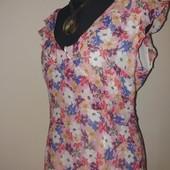 обновление товара Платье 48р шелковое цветочное с воланами шелк 100% китайский