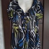 Фирменная красивая блуза р.18-22 состояние новой вещи
