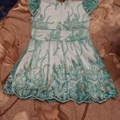 Красивое платье для маленькой принцессы на выход или на праздник!