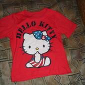Качественная, стильная, х/бшная футболка на рост 100-110. новая. Смотрите замеры в описании