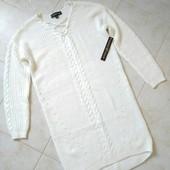 Новый белый свитер удлиненный, брендовый Almost Famous с бирками!
