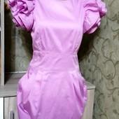 Собираем лоты!! Фирменное платье с шикарными плечами и молнией на спине, размер 10