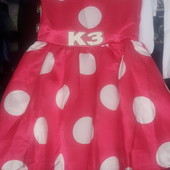 Платье на 4-6лет 100%полиестер