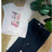 Батальные качественные джинсы.(футболка в подарок)