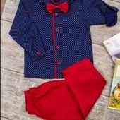 Костюм для мальчика (брюки, рубашка, бабочка)