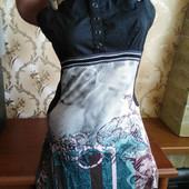 Красивое женское платье французского бренда Cop copine. Размер м (+/-44).