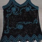 Фирменная красивая блуза расшитая лентами и ажурной тесьмой р. 12-16
