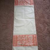 Новое старинное полотенце, лен. 130*45 см