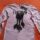 Новая мужская футболка с длинным рукавом, размер L
