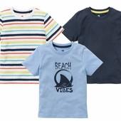 Комплект 3 шт футболочки на мальчика Lupilu Германия размер 110/116