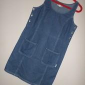 Крутой джинсовый сарафан ,12 евр. пог 48 см