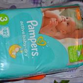 Пiдгузки Pampers Active Baby-Dry розмір 3, 5-9 кг, 82 шт