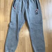 Серые спортивные теплые штаны на флисе xxxl / xxl