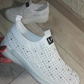 Мега крутые белоснежные женские макасики-кроссовки,быстрая отправка к Вам