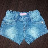 Джинсовые шорты для девочки.104-110
