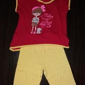 Летний костюм для девочки.104-110