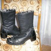 Английские кожаные сапоги на натуральном меху 37-й размер