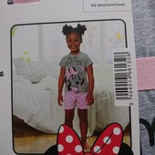 Disney minnie mouse футболка +шорты 110-116